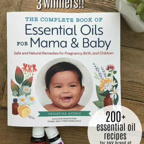 200 essential oil recips for moms - giveaway three winners