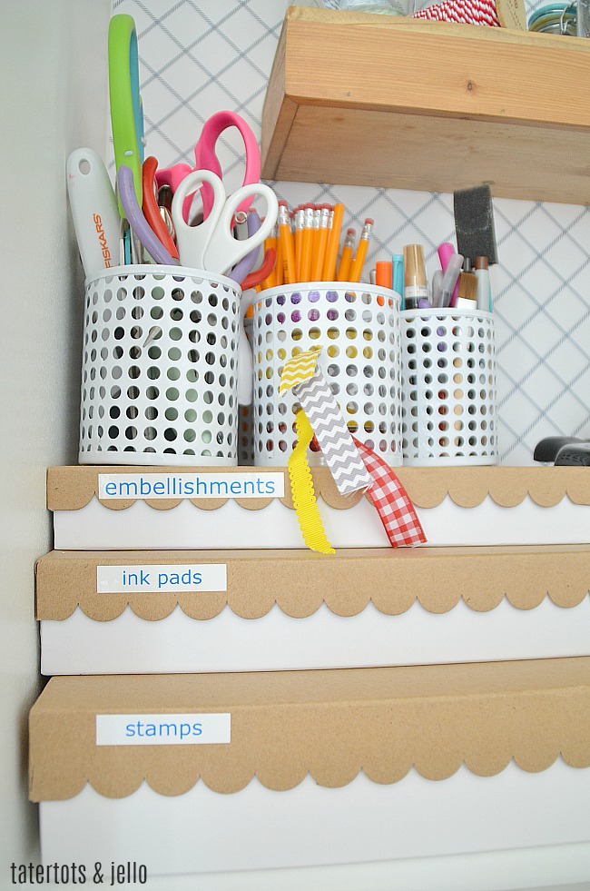 Craft Room Closet Makeover. Organized your craft supplies with labels. Find out how to create an amazing craft closet!