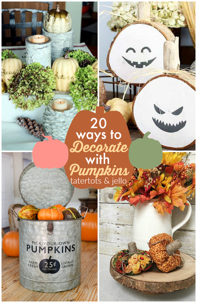 20 ways to decorate with pumpkins