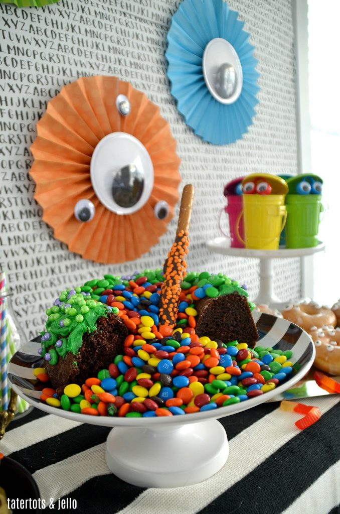 Monster Party and Witches Cauldron Bubbling Cake