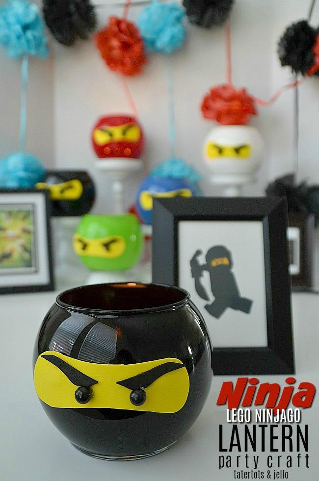 LEGO NINJAGO Party Lantern DIY Craft