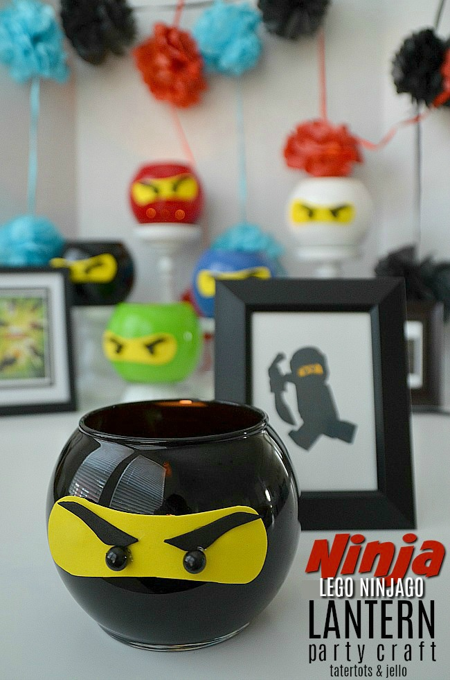Ninja lantern craft and a month of kids crafts you can make at home.
