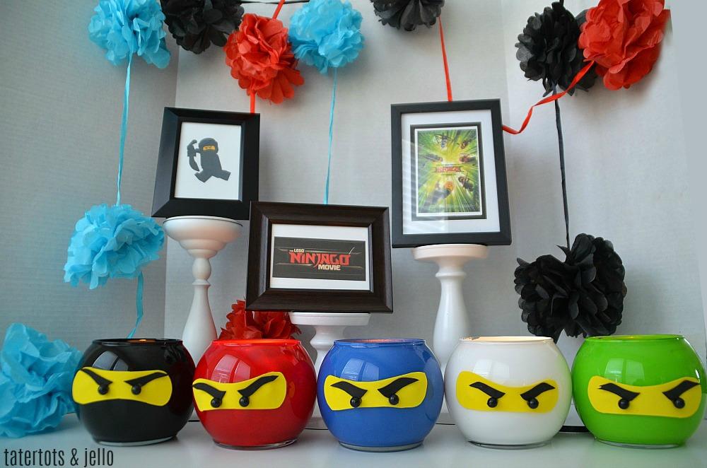 LEGO NINJAGO party lantern craft
