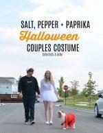 Couples + Dog Halloween Costume Idea – Salt, Pepper + Paprika