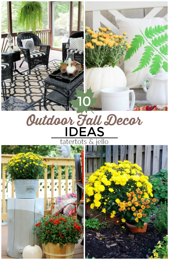 Great ideas 10 colorful outdoor fall decor ideas for White house fall garden tour 2017