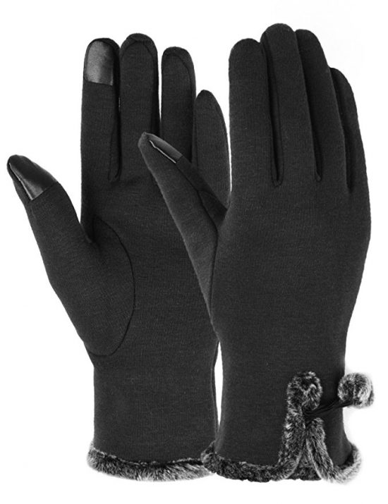 The perfect gloves to take on an Alaskan cruise. You can use them with your smartphone to take photos.