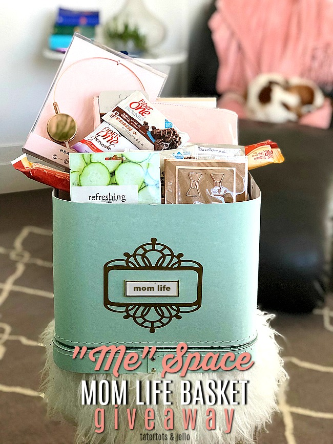 """Me Time Mom Space and basket. Carve out a little space in your home for """"me"""" time. Create a basket to keep your """"mom time"""" treats!"""