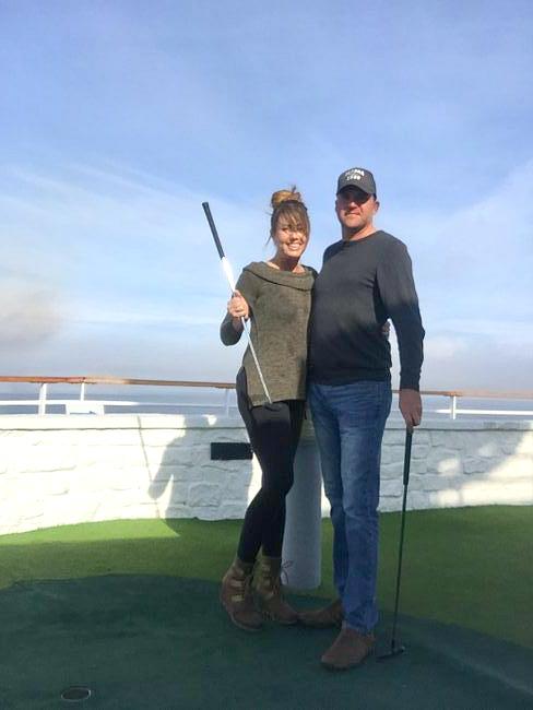 miniature golfing our on alaskan cruise