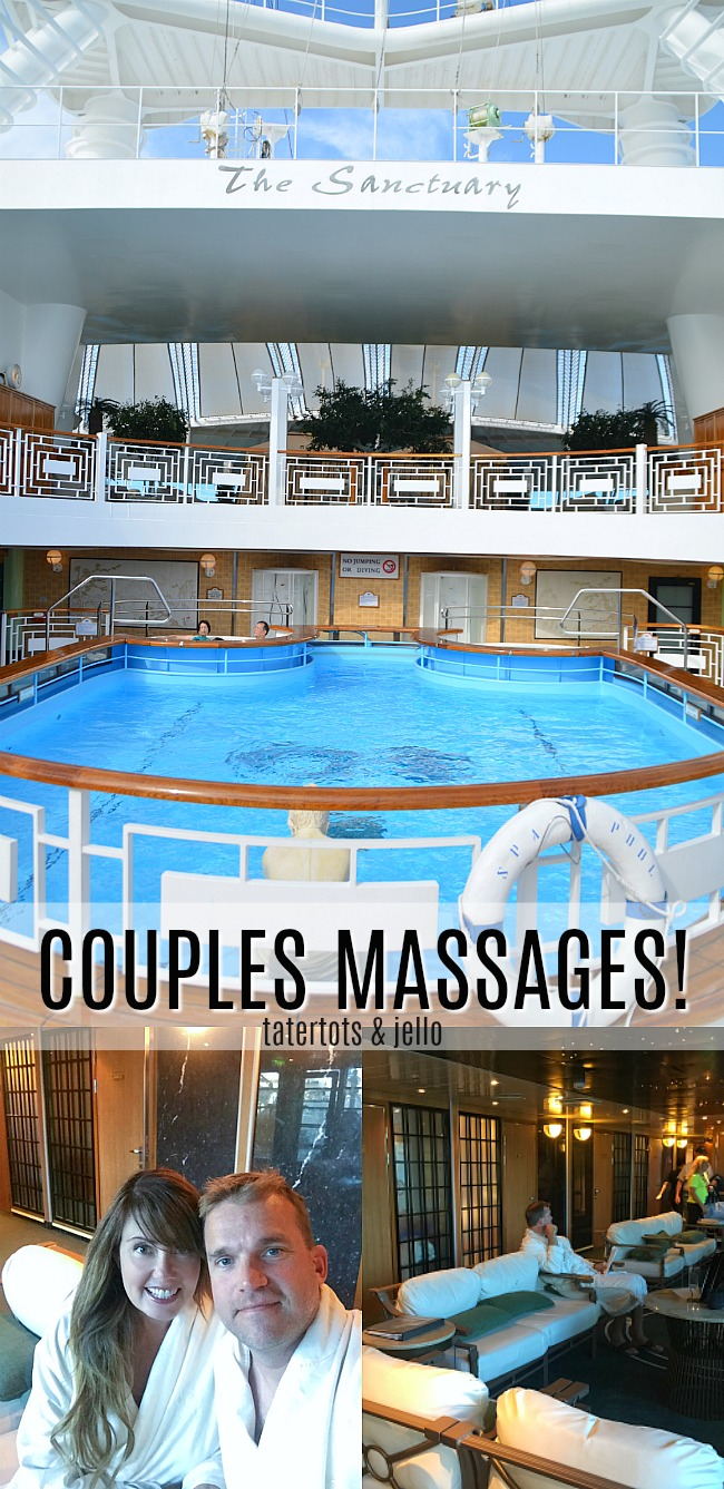 reasons to go on an alaskan cruise - couples massages