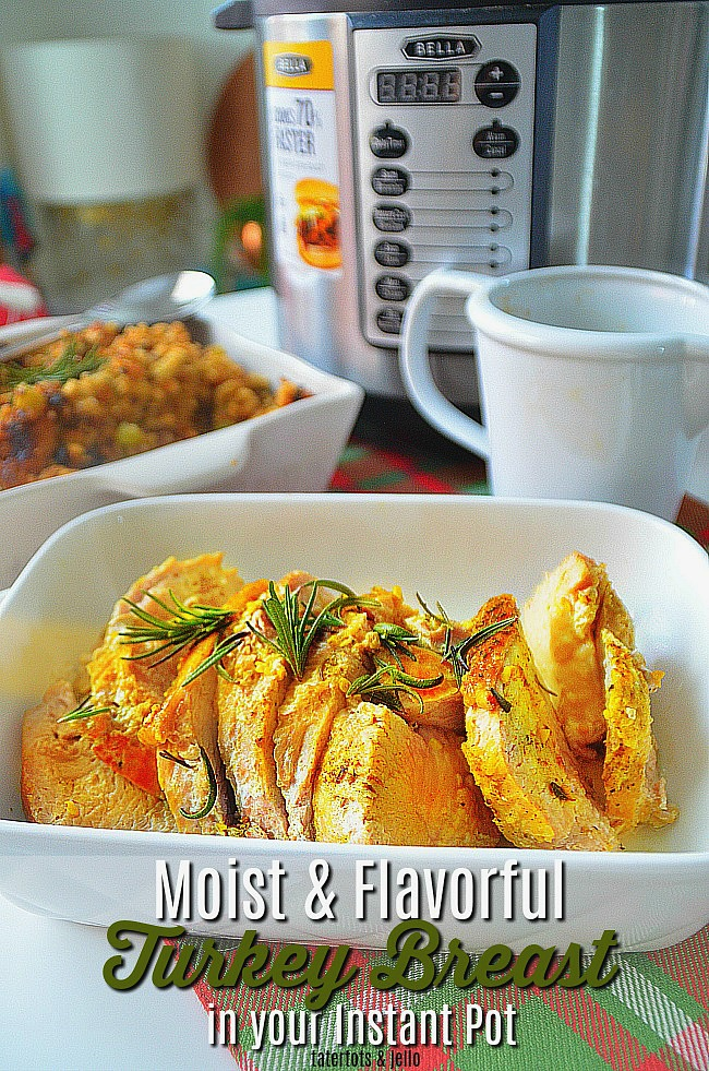 Moist and Flavorful Turkey Breast in your instant pot