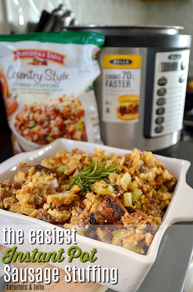 The Easiest Instant Pot Sausage Stuffing. Free up your oven this Thanksgiving by making savory sausage stuffing in your Instant Pot!