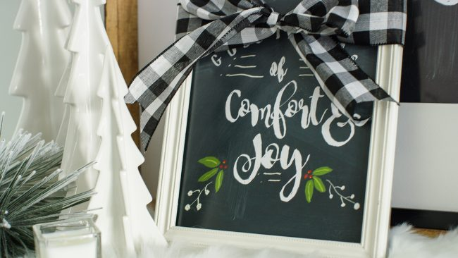 Comfort and Joy - holiday chalkboard template and gift idea