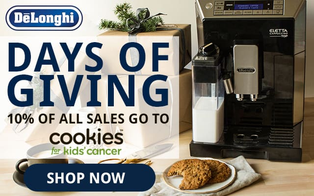 delonghi cookies for kids cancer