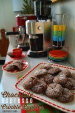 Chocolate Espresso Crinkle Cookies + Spiced Cinnamon Almond Lattes!
