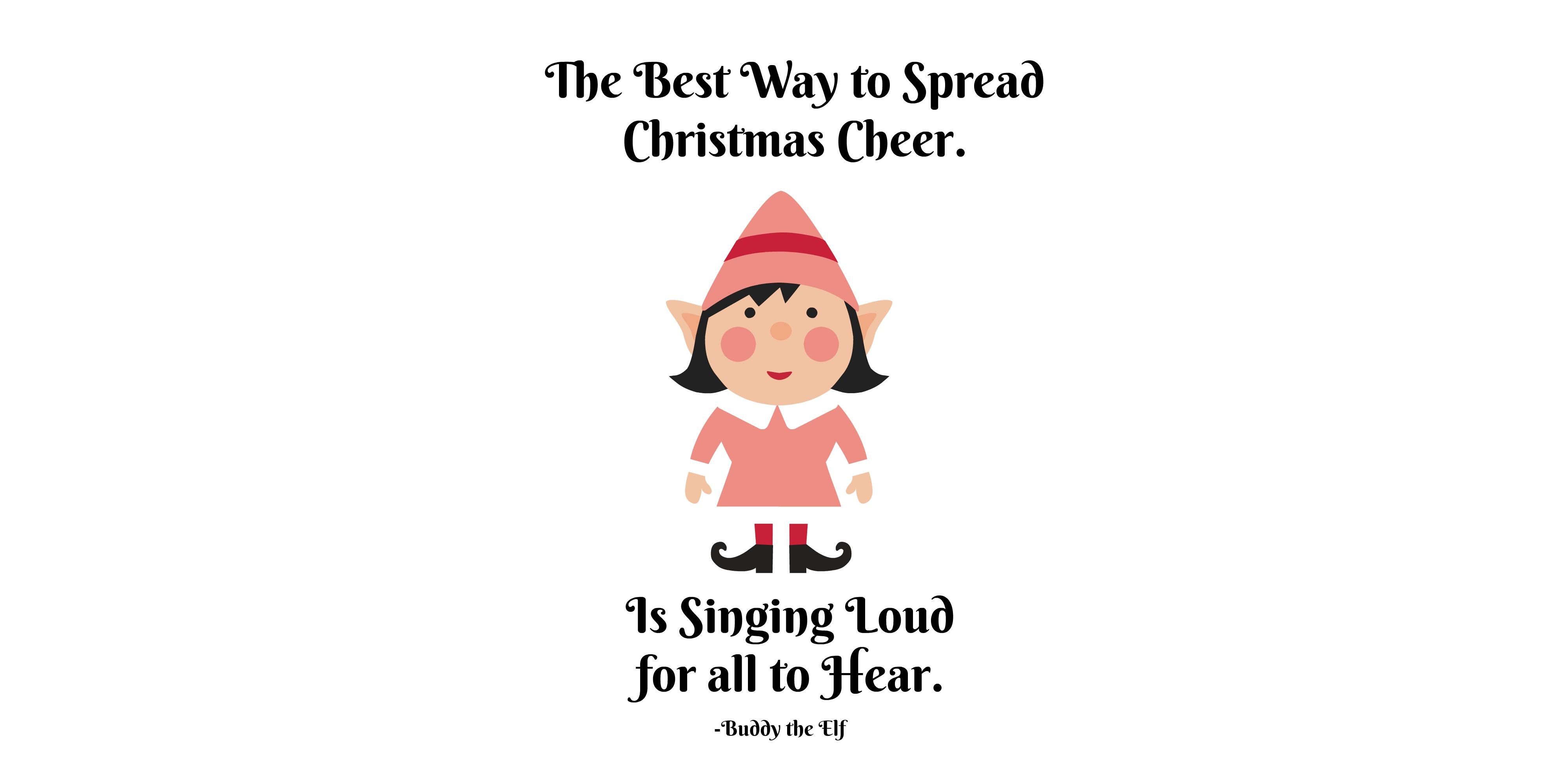 Girl Elf Christmas Cheer Printable