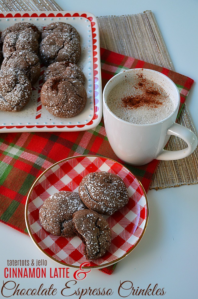 Chocolate Espresso Crinkle Cookies - an easy cookie to make with a complex flavor of chocolate and hint of espresso.