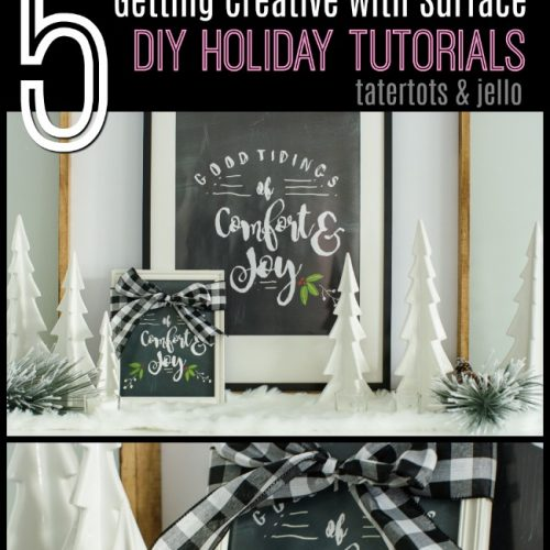 five holiday tutorials with surface