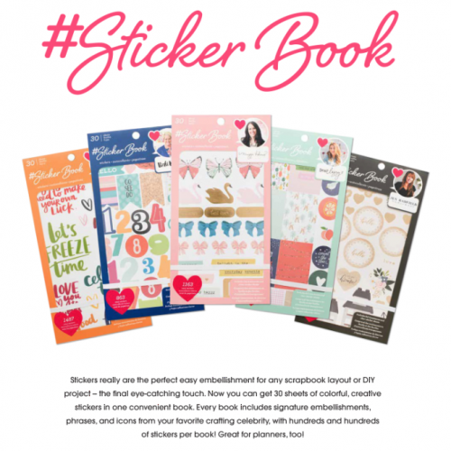 Sticker Books are an easy way to make tons of paper crafting projects so easily!