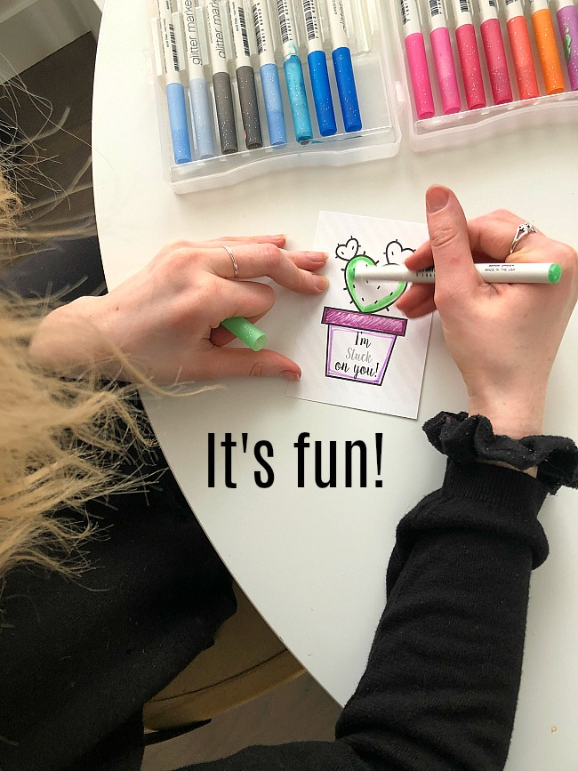 Kids I'm Stuck on You Coloring Printable Tags + Magnetic Putty!