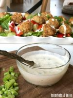 Whole 30 Mediterranean Meatball Salad with Creamy Dressing!