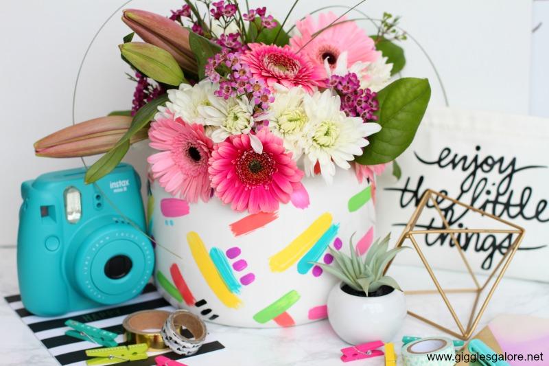 DIY brushstroke vase