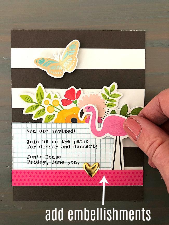 Patio Party invitation card tutorial - make a bright and happy invitation!