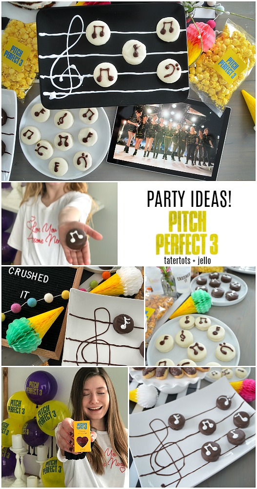 Musical Note Party Cookies - pitch perfect party ideas. Easy ways to celebrate a musical birthday party!