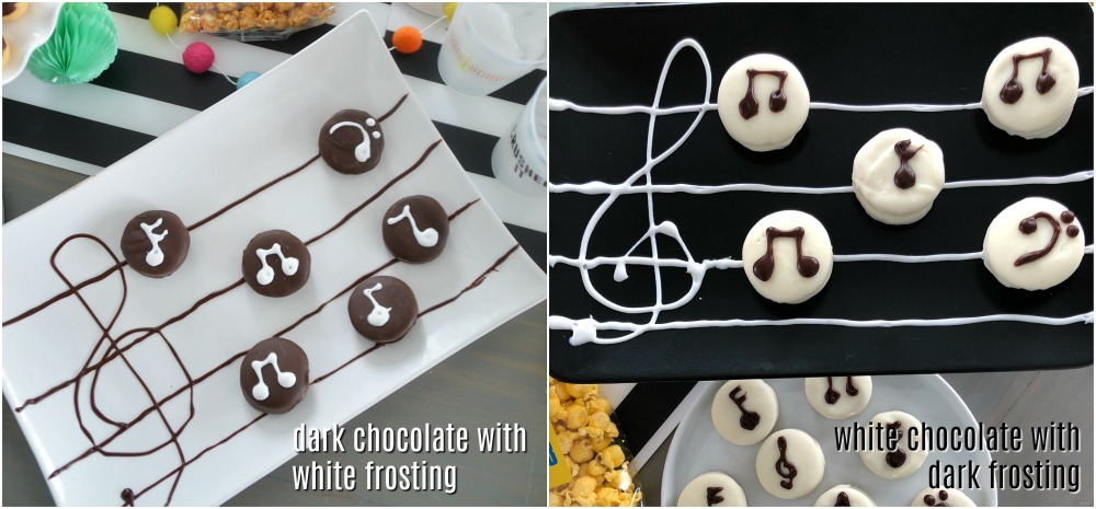 Musical note cookies for parties