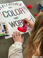 Free Colorable Valentine Tags and Posters with Kwik Stix!
