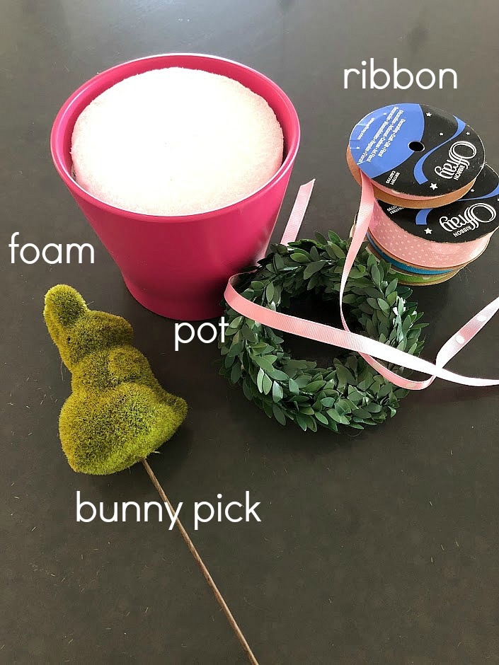 Easy Bunny Spring Topiaries - easy to make and a beautiful way to bring spring into your home!
