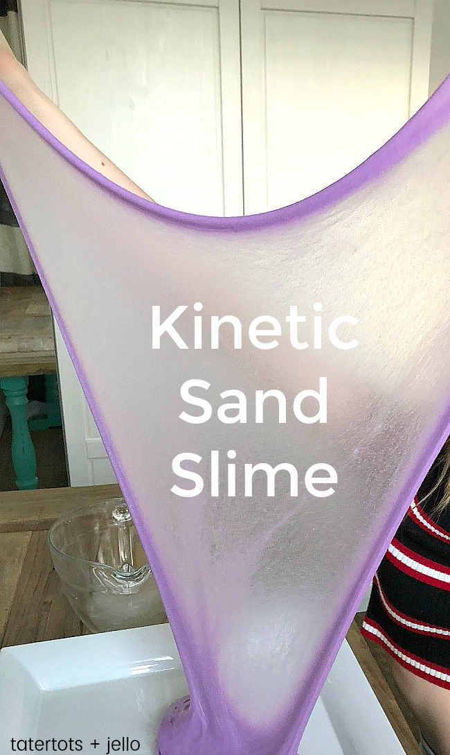 kinetic sand slime kids craft