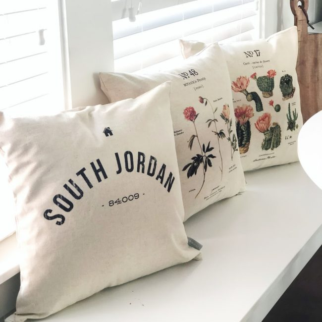 Linen and Ivory pillow covers