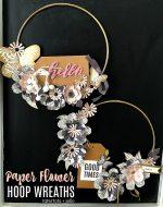 Make Hoop Paper Flower Wreaths – modern and so pretty!
