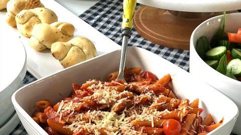 Instant Pot Easy Basil Penne Pasta Dinner
