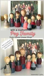 Giveaway — Win YOUR own peg family from Goose Grease!