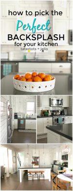 How to pick the perfect kitchen backsplash tile!
