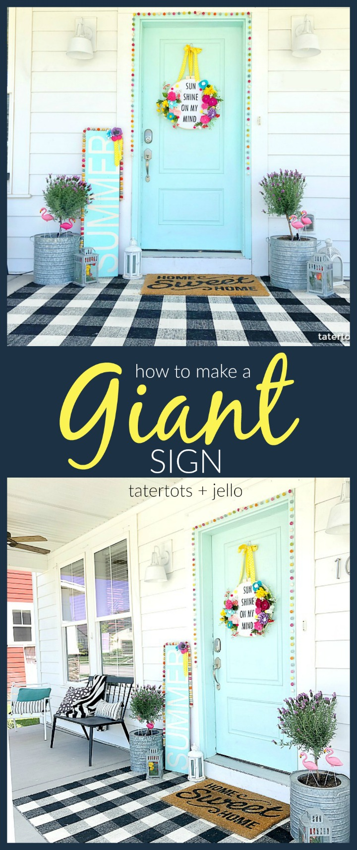 how to make a giant sign - it's easy, inexpensive and makes a statement!