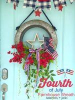 Fourth of July Galvanized Farmhouse Flag Wreath