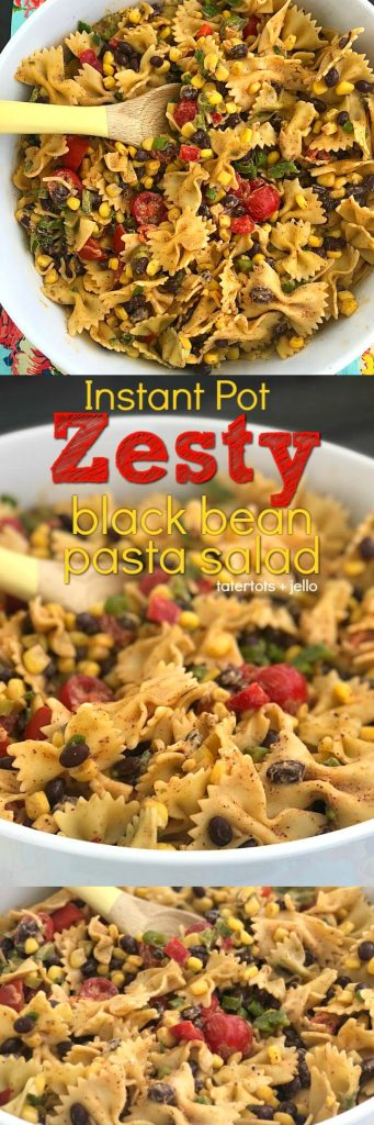 how to make zesty instant pot mexican black bean pasta salad
