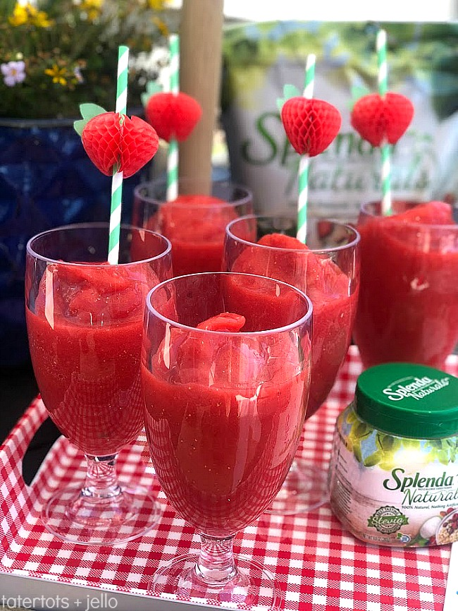 FOUR ways I'm getting healthier this Summer. Plus a FOUR ingredient Sugar-free Strawberry Lemonade. It's the perfect guilt-free drink to serve this summer!