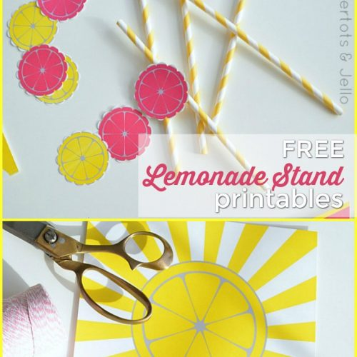 Lemonade Stands are a staple of childhood! Help your kids set up a little lemonade stand with these FREE Lemonade Stand printables!