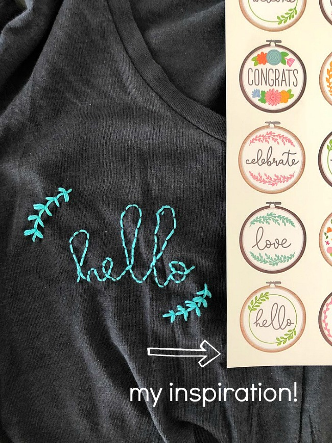 How to make DIY Embroidered Shirts! A fun teen or tween craft!