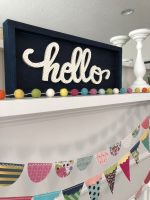 Summer Mantel and Hello Wood Sign Tutorial