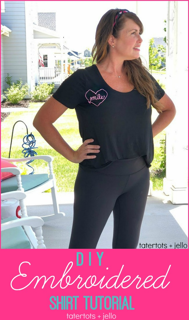 How to make DIY Embroidered Shirts! A fun teen or tween craft! Embroider special words or sayings on a shirt for a one-of-a-kind statement piece. You can embroider any type of clothing - tank tops, shirts, sweatshirts, even shorts or pants! Give it a try!