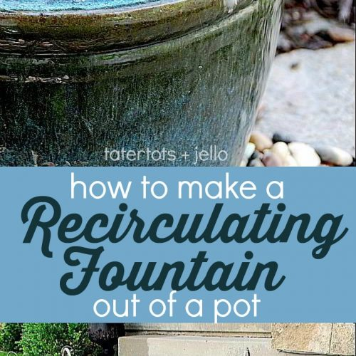 Create a soothing fountain for your yard with just a few simple items from the hardware store. Make a soothing recirculating fountain for your home this summer!