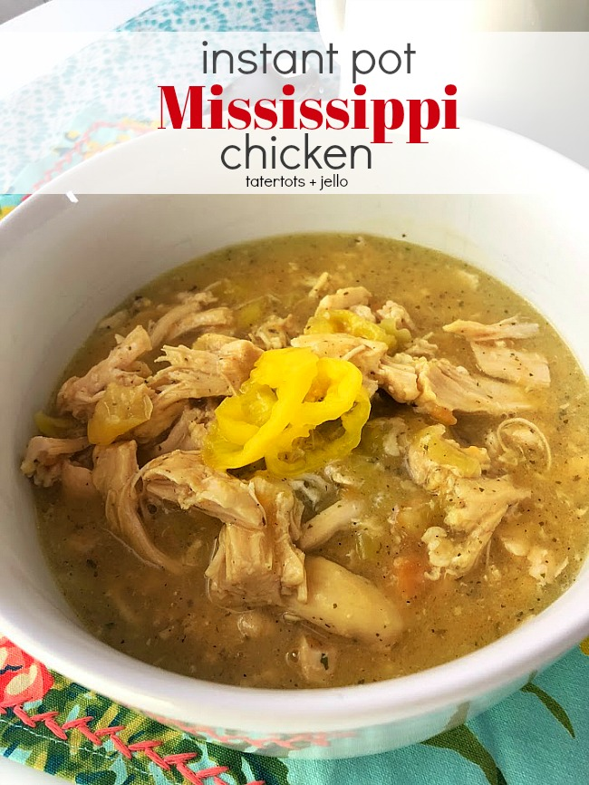 Instant Pot Mississippi Chicken is a spin on the famous Mississippi Pot Roast. Creamy ranch flavors mix with spicy pepperoncini for a creamy shredded chicken that is perfect over rice or on buttery sandwich buns. You make it in your Instant Pot in a fraction of the time it takes in the slow cooker! It will become a family favorite!