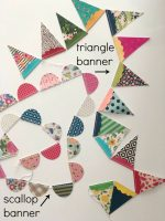 How to Sew a Paper Garland – an easy way to decorate for ANY occasion!