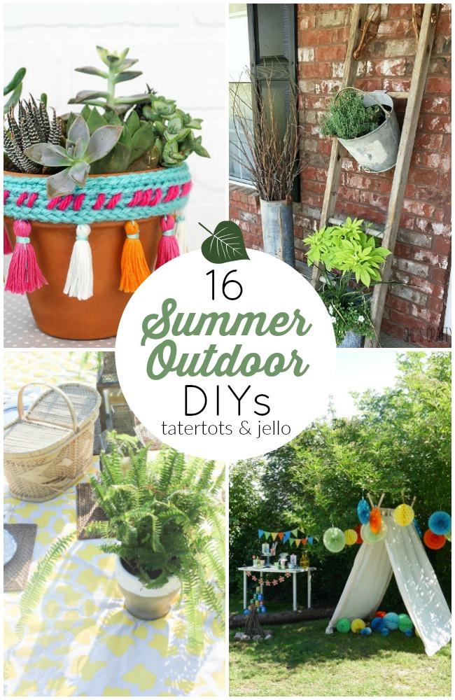 16 Outdoor Summer DIYs