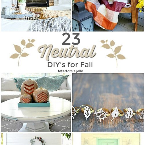 Neutral Fall Decor is an easy and gorgeous way to transition from summer to fall. Here are some easy ways to bring fall into your home! 23 Neutral Fall DIY Ideas!