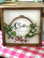 Make an Autumn Framed Embroidery Hoop Gather Wall Hanging